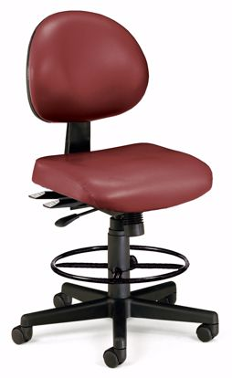 Picture of 24/7 TASK CHAIR W/DK - WINE VINYL AM