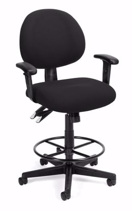 Picture of 24/7 COMP TASK CHAIR W/ARMS+DK -206-BLK