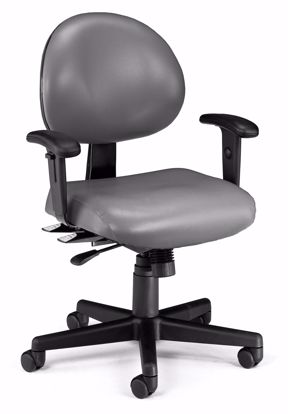 Picture of 24/7 TASK CHAIR W/ARMS-604-CHARCOALVINYL