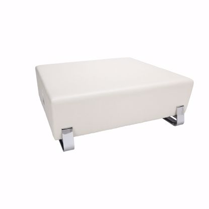 Picture of 4004C SQUARE USB BENCH LINEN W/ CHROME FRAME