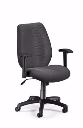 Picture of ERGO CONF/MAN CHAIR W/ADJ ARMS -GRAPHITE