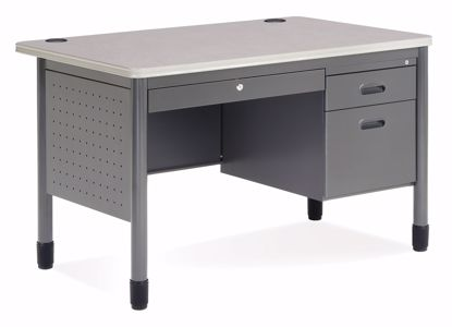 Picture of 30X48 TEACHER DESK - GRAY NEBULA