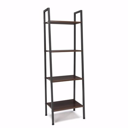 Picture of ESSENTIALS 4 Shelf Bookshelf GRAY-WALNUT