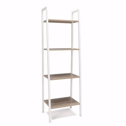 Picture of ESSENTIALS 4 Shelf Bookshelf White-Natural