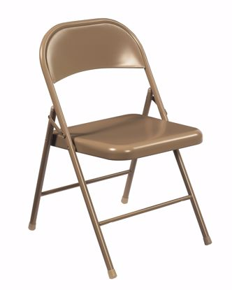 Picture of Commercialine® All-Steel Folding Chair, Beige (Pack of 4)