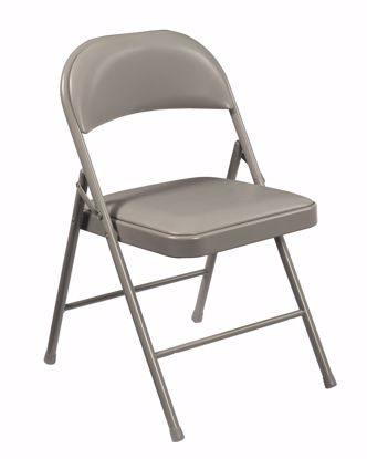 Picture of Commercialine® Vinyl Padded Steel Folding Chair, Grey (Pack of 4)