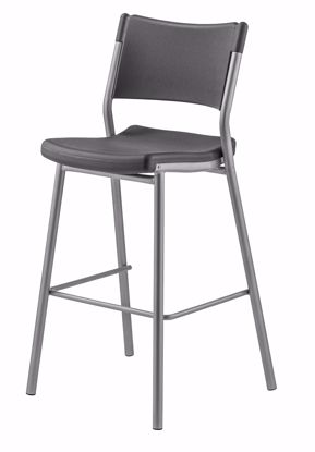 Picture of NPS® Café Time Stool, Charcoal Slate Top & Silver Frame