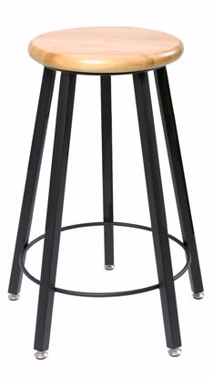 """Picture of FIXED HEIGHT STOOL, 24""""H"""