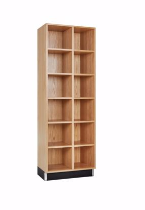 Picture of CUBBY CABINET,OAK,12 EQUAL OPENINGS