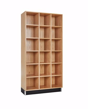 Picture of CUBBY CABINET,OAK,18 EQUAL OPENINGS