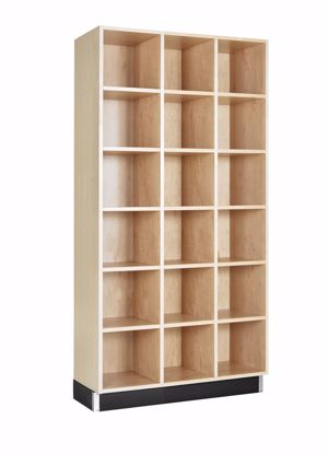 Picture of CUBBY CABINET,MAPLE,18 EQUAL OPENINGS