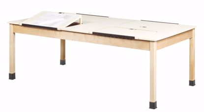 """Picture of 4 STATION DRAFTING TABLE - 3/4"""" PL"""