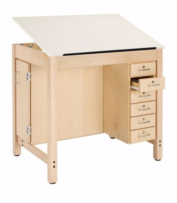 Picture of DRAFT TABLE-1 PC ADJ, BD&DRW STOR