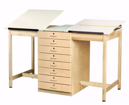 Picture of 2 STATION DRAFTING TABLE - 8 DRAWER