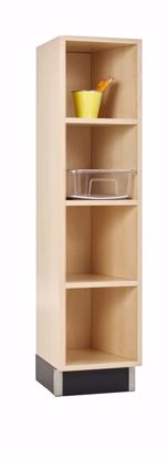 Picture of CUBBY CABINET,MAPLE,4 EQUAL OPENINGS