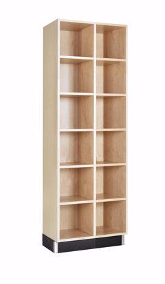 Picture of CUBBY CABINET,MAPLE,12 EQUAL OPENINGS