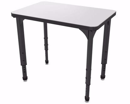 """Picture of Apex Desk 20"""" x 30"""" Rectangle Markerboard-White / Black Edge / Black Leg"""