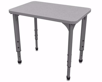 """Picture of Apex Desk 20"""" x 30"""" Rectangle Gray Nebula / Gray Edge / Gray Leg"""